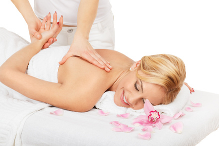 lady massage client